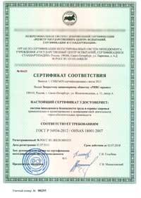 OHSAS 18001 2012 в Пензе